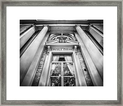 Circulo Cubano Framed Print by Ybor Photography