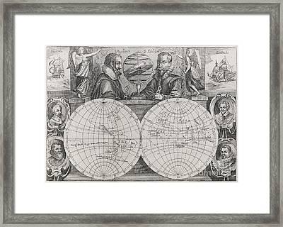 Circumnavigators, 16th-17th Century Framed Print