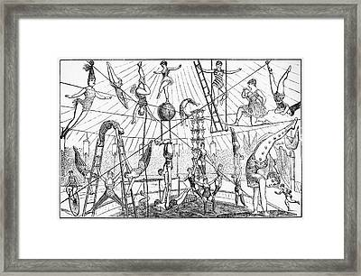 Circus Acrobats Framed Print by Granger