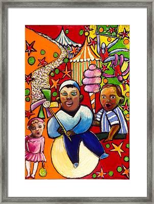 Circus Framed Print by Angelina Marino