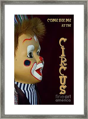 Framed Print featuring the photograph Circus Clown By Kaye Menner by Kaye Menner