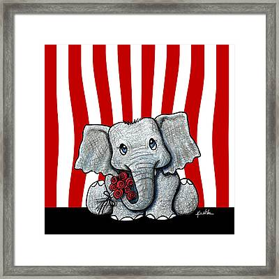 Circus Elephant Framed Print
