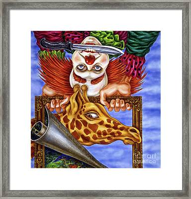 Circus In The Museum Framed Print