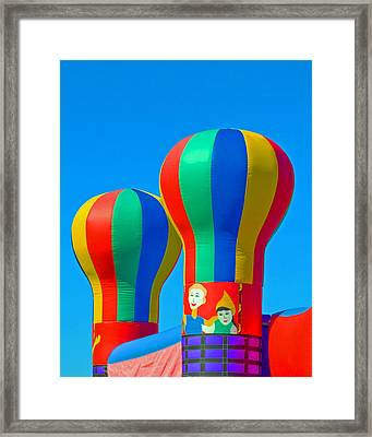 Circus In The Sky - Three Framed Print by Allan  Hughes
