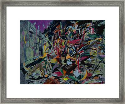 Circus In The Town  Framed Print by Tadeush Zhakhovskyy