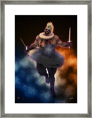 Circus Of Horrors - Cannibal Clown Framed Print