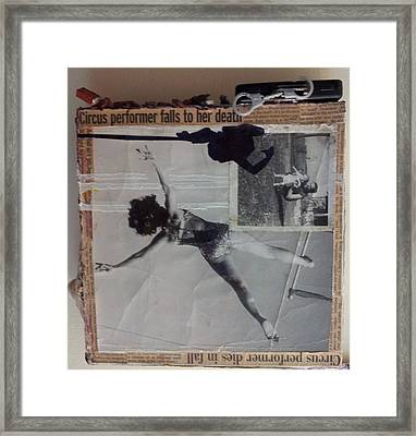 Circus Performer Falls To Her Death Framed Print by William Douglas