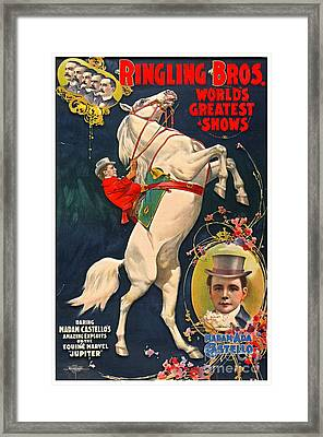 Circus Playbill 1899 Framed Print by Padre Art