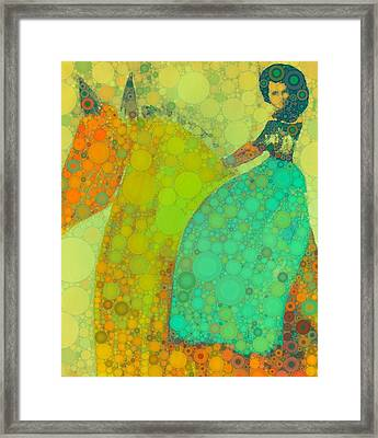 Circus Pony 4 Framed Print by M  Stuart