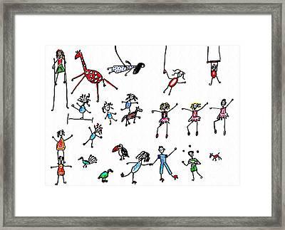Circus Framed Print by Sarah Loft