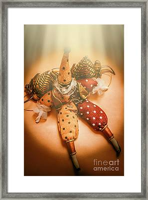 Circus Stage Spotlight Framed Print
