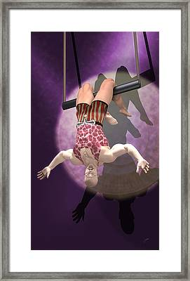 Circus Trapeze Artist Framed Print by Joaquin Abella