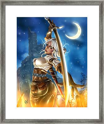 Ciri Framed Print by Pete Tapang