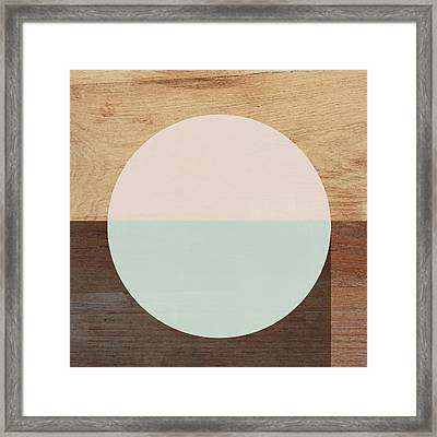 Cirkel In Peach And Mint- Art By Linda Woods Framed Print by Linda Woods
