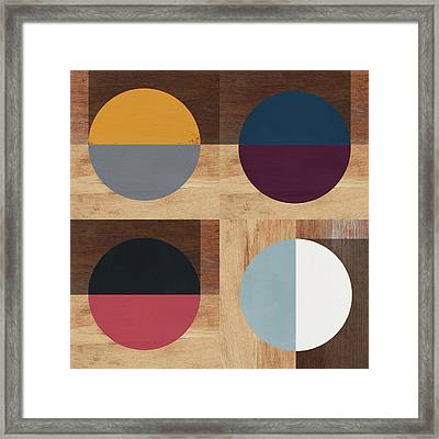 Cirkel Quad- Art By Linda Woods Framed Print