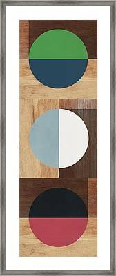 Cirkel Trio- Art By Linda Woods Framed Print