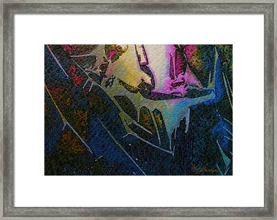 Framed Print featuring the painting Cirque Du Soleil by Mary Sullivan