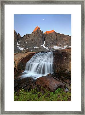 Framed Print featuring the photograph Cirque Of The Towers Sunrise. by Johnny Adolphson