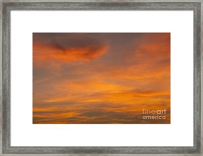 Cirrus Clouds At Sunset Framed Print