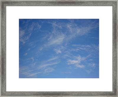 Cirrus Clouds Framed Print