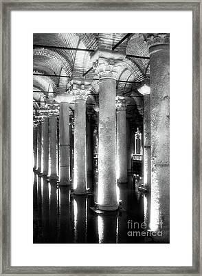 Cistern Columns Framed Print