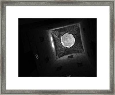 Framed Print featuring the photograph Citadel Dome Of Alex Bw by Donna Corless