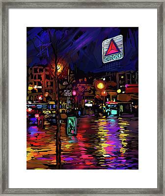 Citgo Sign, Boston Framed Print