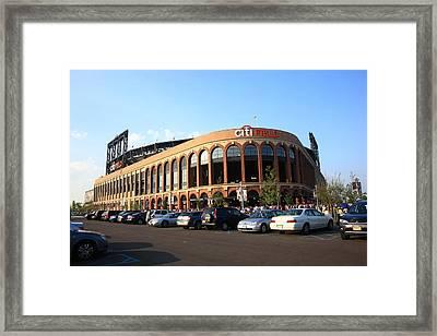 Citi Field - New York Mets 13 Framed Print by Frank Romeo