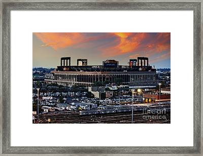 Citi Field Sunset Framed Print
