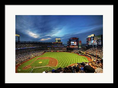 Mets Stadium Framed Prints