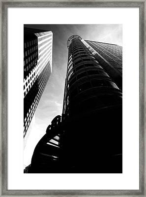 Citibank - Black And White Framed Print