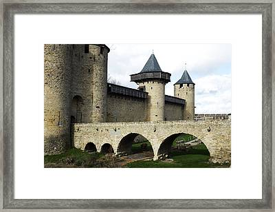 Citie De Carcassone Framed Print