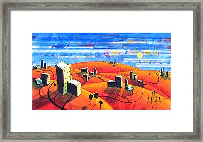 Cities And Towns Framed Print by Rollin Kocsis