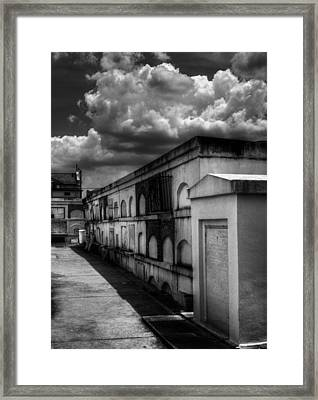 Cities Of The Dead In Black And White Framed Print