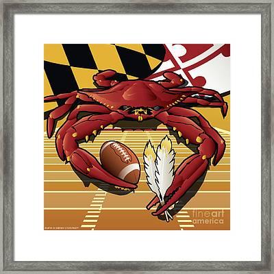Citizen Crab Redskin, Maryland Crab Celebrating Washington Redskins Football Framed Print