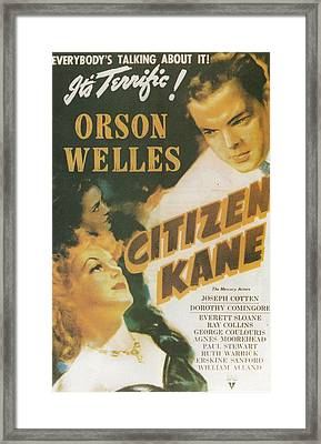Citizen Kane - Orson Welles Framed Print by Georgia Fowler