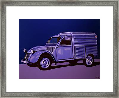 Citroen 2cv Azu 1957 Painting Framed Print by Paul Meijering