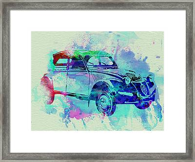 Citroen 2cv Framed Print by Naxart Studio