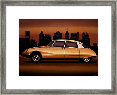 Citroen Ds 1955 Painting Framed Print