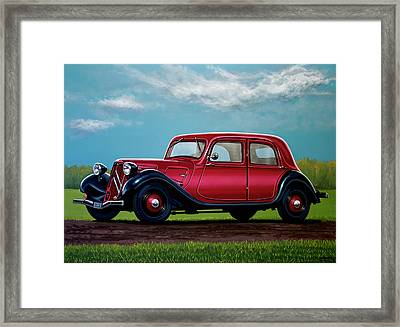 Citroen Traction Avant 1934 Painting Framed Print by Paul Meijering