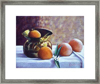 Citrus And Copper Framed Print by Sonsoles Shack