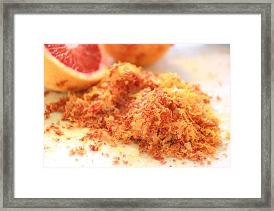 Framed Print featuring the photograph Citrus Blood Oranges by Shelley Neff