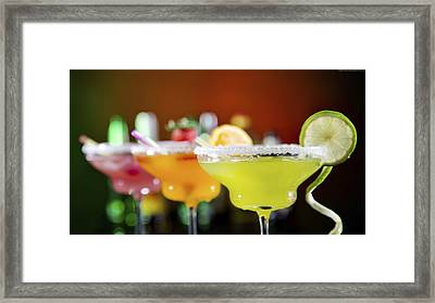 Citrus Cocktail Framed Print