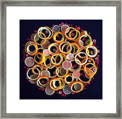 Citrus Delight Framed Print