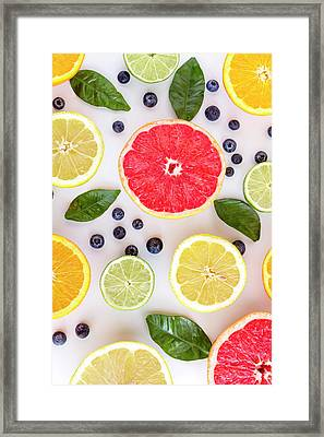 Citrus Fruits Framed Print by Teri Virbickis