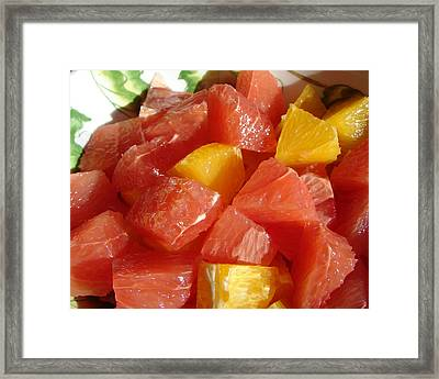 Framed Print featuring the digital art Citrus In Winter by Jana Russon