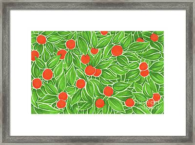 Citrus Pattern Framed Print