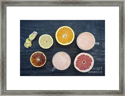 Citrus Smoothies Framed Print
