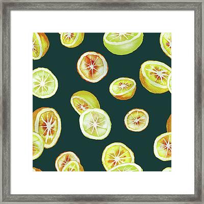 Citrus Framed Print by Varpu Kronholm