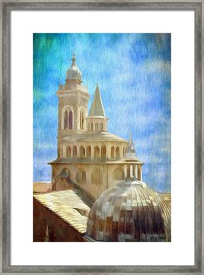 Citta Alta From Above Framed Print